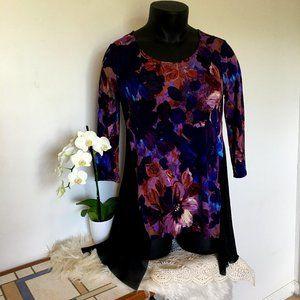 Cupio Purple Floral Blouse